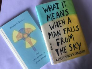 Covers of The Only Harmless Great Thing and What It Means When a Man Falls From the Sky