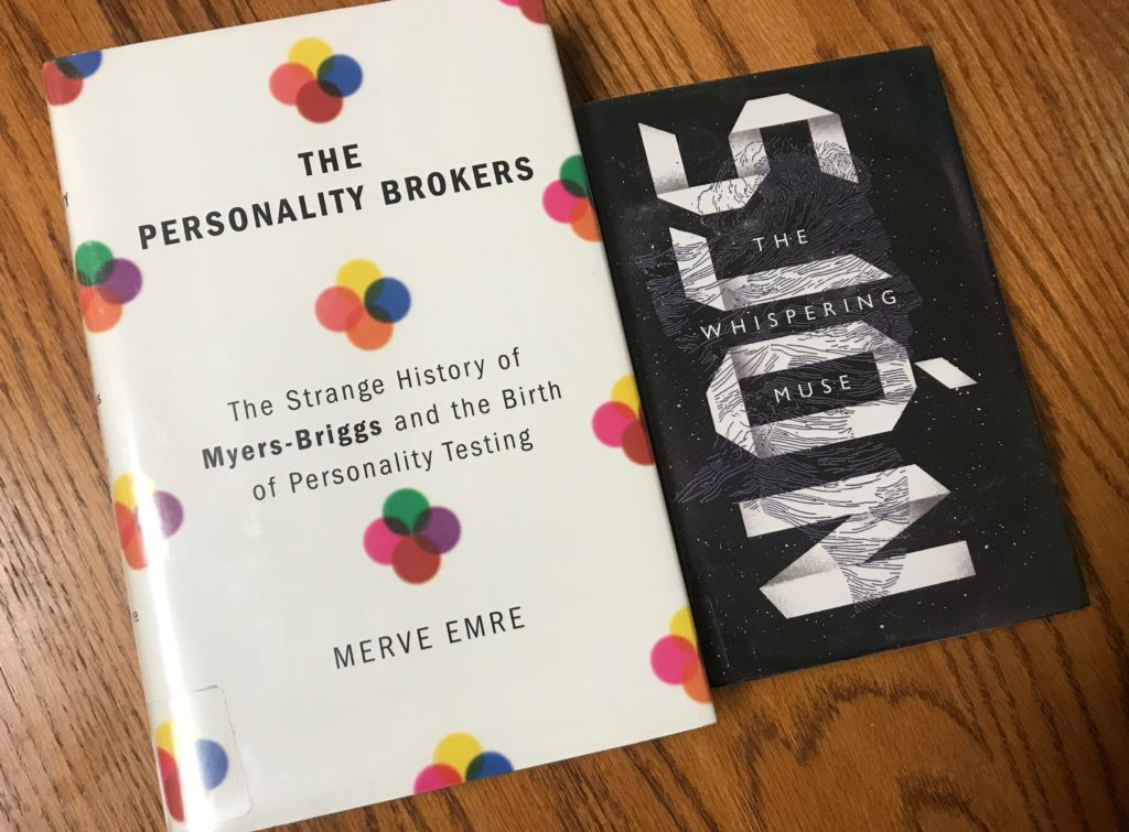 Covers of The Personality Brokers and The Whispering Muse
